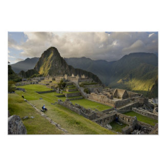 Machu Picchu, ancient ruins, UNESCO world Poster