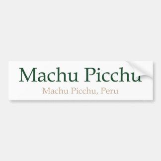 Machu Picchu and PeruMachu Picchu Bumper Sticker