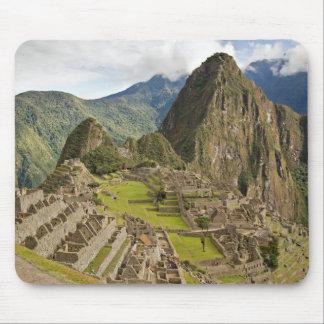Machu Picchu, ciudad del inca en el mousepad de