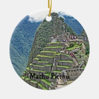 Machu Picchu Double-Sided Ceramic Round Christmas Ornament