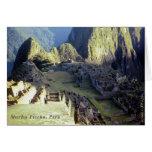 'Machu Picchu en Dawn Tarjeta