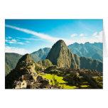 Machu Picchu Greeting Cards
