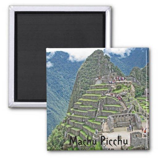 Machu Picchu Imán Cuadrado