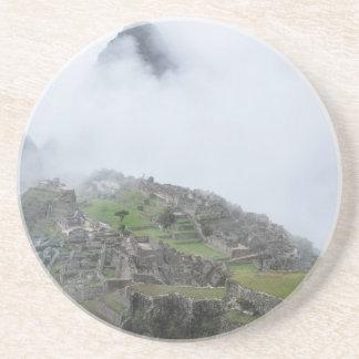 Machu Picchu In The Clouds Sandstone Coaster