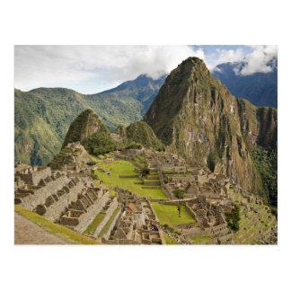 Machu Picchu, inca city in Peru postcard