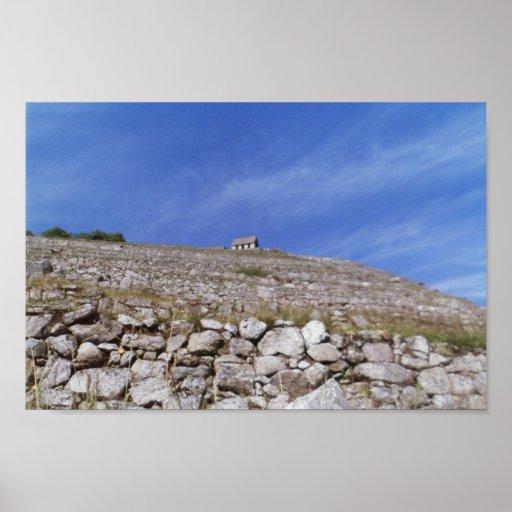 Machu Picchu - mirando para arriba la cabaña del g Impresiones
