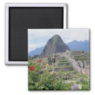 Machu Picchu, Peru 2 Inch Square Magnet
