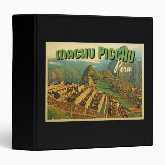 Machu Picchu Peru 3 Ring Binder