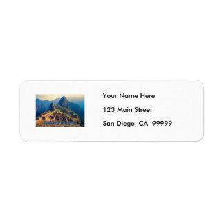 Machu Picchu Peru Return Address Label