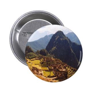 Machu Picchu Peru - Machu Picchu Ruins Sunrise Button