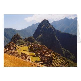 Machu Picchu Peru - Machu Picchu Ruins Sunrise Card