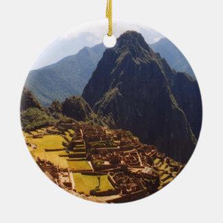 Machu Picchu Peru - Machu Picchu Ruins Sunrise Ceramic Ornament