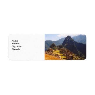 Machu Picchu Peru - Machu Picchu Ruins Sunrise Return Address Label