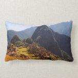 Machu Picchu Peru - Machu Picchu Ruins Sunrise Lumbar Pillow
