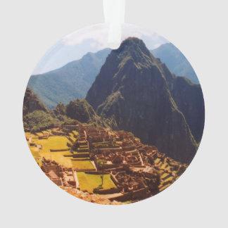 Machu Picchu Peru - Machu Picchu Ruins Sunrise Ornament