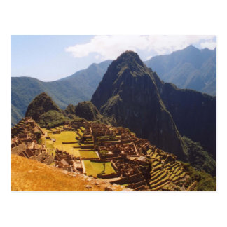 Machu Picchu Peru - Machu Picchu Ruins Sunrise Postcard