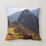 Machu Picchu Peru - Machu Picchu Ruins Sunrise Throw Pillow