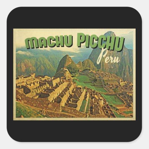 Machu Picchu Perú Calcomanía Cuadradas Personalizada