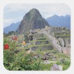 Machu Picchu, Perú Pegatina Cuadrada