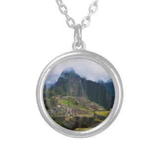 Machu Picchu, Peru Silver Plated Necklace