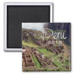 MACHU PICCHU Peru Souvenir Magnet Change Year