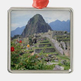 Machu Picchu, Peru Square Metal Christmas Ornament