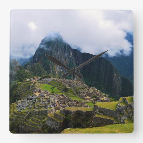 Machu Picchu, Peru Square Wall Clock