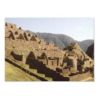 Machu Picchu Peru - Sun Gate View of Ruins Card