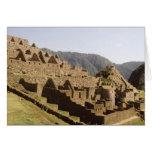 Machu Picchu Peru - Sun Gate View of Ruins Greeting Cards