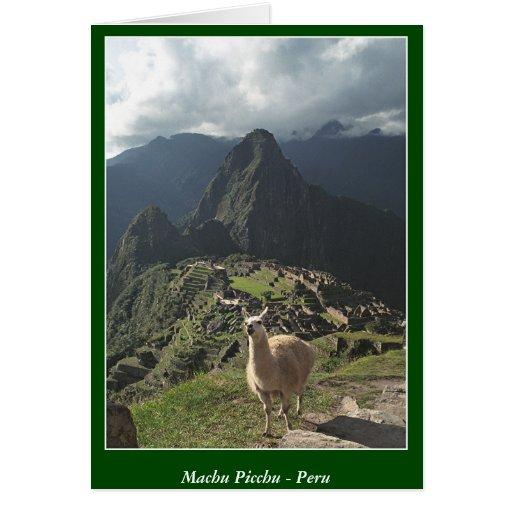 Machu Picchu Perú - tarjeta en blanco