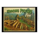 Machu Picchu Perú Tarjetón