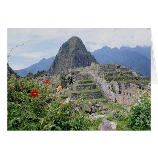 Machu Picchu, Perú Tarjeton