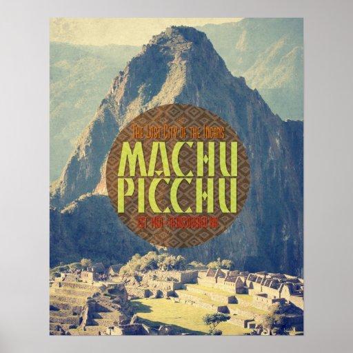 machu picchu peru travel poster zazzle