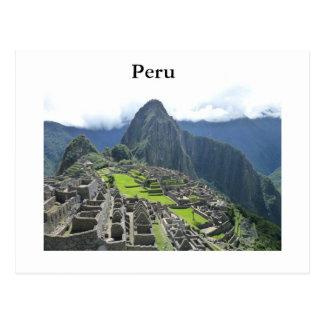 Machu Picchu postcard
