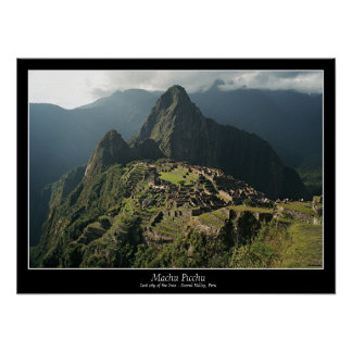 Machu Picchu Poster - 7 Wonders of the World