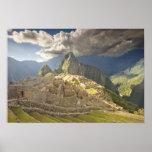 Machu Picchu, ruinas antiguas, mundo 2 de la UNESC Poster