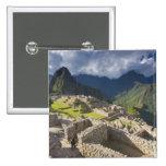Machu Picchu, ruinas antiguas, mundo 3 de la UNESC Pin Cuadrada 5 Cm