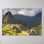Machu Picchu, ruinas antiguas, mundo 4 de la UNESC Poster