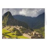 Machu Picchu, ruinas antiguas, mundo 4 de la UNESC Tarjetas