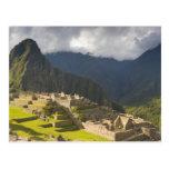 Machu Picchu, ruinas antiguas, mundo 4 de la UNESC Tarjeta Postal