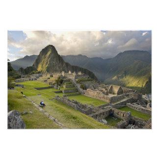 Machu Picchu, ruinas antiguas, mundo de la UNESCO Foto