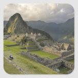 Machu Picchu, ruinas antiguas, mundo de la UNESCO Pegatina Cuadrada