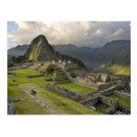 Machu Picchu, ruinas antiguas, mundo de la UNESCO Postal