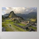 Machu Picchu, ruinas antiguas, mundo de la UNESCO Póster