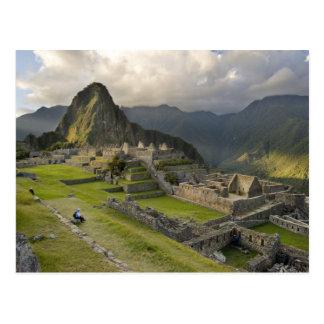 Machu Picchu ruinas antiguas mundo de la UNESCO Postal