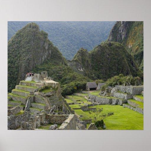 Machu Picchu, ruinas de la ciudad del inca, Perú.  Impresiones