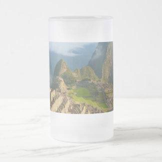 Machu Picchu ruins Frosted Glass Beer Mug
