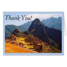 Machu Picchu Ruins Greeting Card