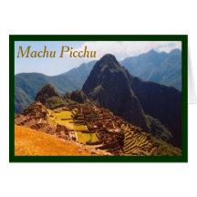 Machu Picchu Ruins Greeting Cards