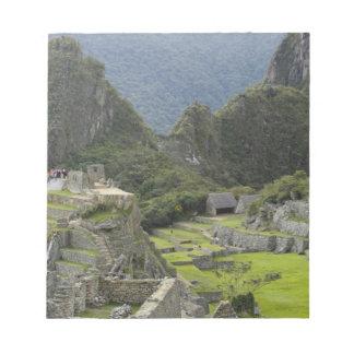 Machu Picchu, ruins of Inca city, Peru. 2 Memo Pad